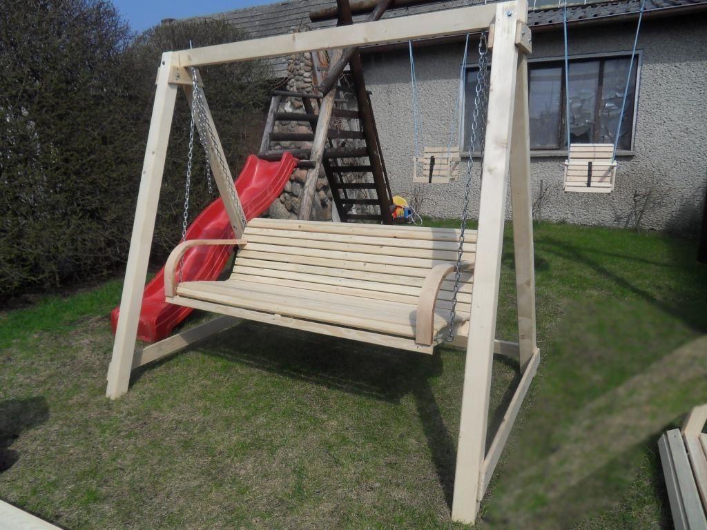 Dondolo Da Giardino Fai Da Te : Dondolo in legno set completo larghezza: 120 150 160 180 cm